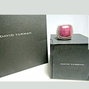 David Yurman Sterling Silver Ruby Moonstone & Diam